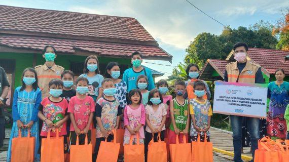 LAZ NF bersama Komunitas Cinta Anak adakan Trauma Healing Pasca Kebakaran Tumbang Rungan