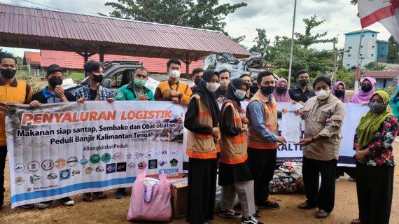Peduli Banjir KATINGAN, NF bersama Relawan Gabungan Salurkan Bantuan Logistik